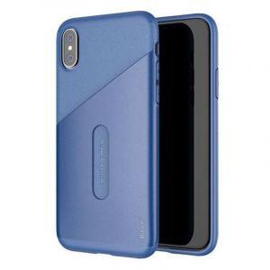 باسيوس جراب حماية لجوال ايفون اكس مع جيب للكروت - اللون أزرق