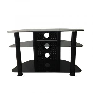 """Floor table screen without stand ,3-shelf, 32""""-42"""", Glass, Steel - AVS-C101B"""