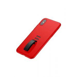 بيسوس جراب ليتل تيل لاجهزة ايفون اكس و اكس اس مع ماسكة  لون احمر -WIAPIPHX-WB09