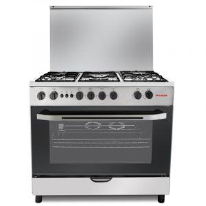 Fresh Oven Gas Size 60×90 cm, 5 Burner, full safety, Steel