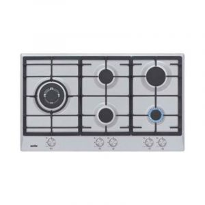 Simfer Cooker Flat Gas , 5 Eyes, 90 cm, Full Safety , Steel - H 9501 CGRM