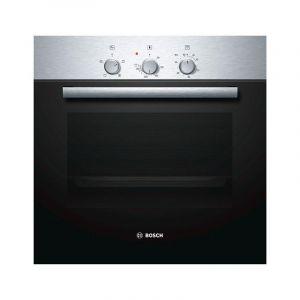 Bosch Built in oven 60 cm, mechanical timer, 66 liter, 4 heating modes ,steel - HBN211E2M