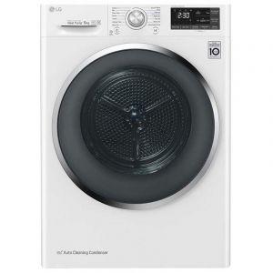 ال جي نشافة منزلية سعة 9 كجم , بالتكثيف , مستشعر , مضخة الحرارة العاكس, أبيض - RC90U2AV2E