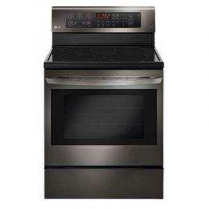LG Ceramic Electric Oven 67x75 cm , 5 Burners,Digital ,Bake Heater , Steel - LRE3193BD