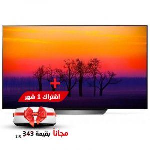 تليفزيون ال جي أوه ال ايه دي 65 بوصة الترا اتش دى , سينيما اتش دي ار - 65B8PVA  - ريسيفر إستقبال قنوات المجد Almajd 9 (باقة 1 شهر) بقيمة 343 مجانى