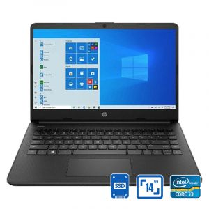 "HP Laptop 14s-dq1011nx, Intel Core i3-1005G1,128GB SSD, 4GB Ram, 14"" , Win 10, Black - 14s-dq1011nx - Blackbox"