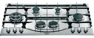 ARISTON Built-In Gas Hob 90 cm ,3 Burners Normal, 1 Burner Trible Head , 2 Burners Twin , Safety system - PH960MSTIX