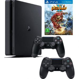 Sony PlayStation 4, 1 TB, Bundle with Knack 2 with 2 Controller, Black