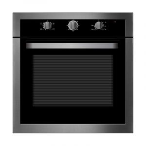 Midea Electric Oven Built in 60 cm, 70 L , Mechanical timer with fan,4 function, Steel - 65CME10104