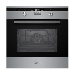 Midea Electric Oven Built in 60 cm, 70 L , Mechanical timer with fan,9 function, Steel - 65DAE40139