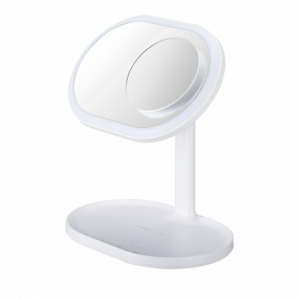 Momax Wireless Charger With Mirror And Bluetooth Speaker , LED, Gray -  QL3UKW