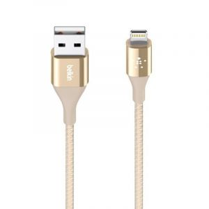 Belkin 120 cm Mixit DuraTek Lightning to USB Cable - F8J207bt04-GLD