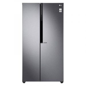 LG Refrigerator Side By Side 21.6 S. Cu. Ft, Graphite Color, Pocket Handle, Inverter Linear Compressor - LS24GBBDLN