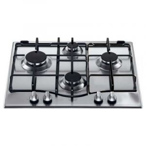 Ariston Built-In Gas Hob, 4 Burners, Stainless Steel, 60 cm - PC640X