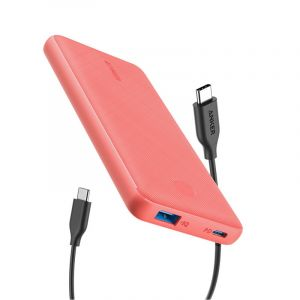 Anker Portable Charger PowerCore Slim 10000 PD, Pink - A1231H52