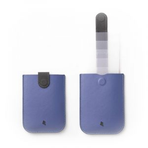 ألوكاكوك حافظة داكس جلد, ازرق - DH0110BL/DAXWLT - الصندوق الاسود