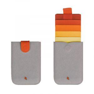 ألوكاكوك حافظة داكس مايكروفيبر جلد, احمر رمادي - DH0056RDGY/DAXWLT - الصندوق الاسود