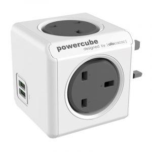 Allocacoc PowerCube Original UK , 4 EX +2 USB, Gray - 7200GY/UKOUPC