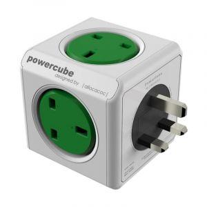 Allocacoc PowerCube Original UK , 4 EX +2 USB, Green - 7200GN/UKOUPC