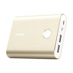 Anker PowerCore Plus 13,400 mAh, 3.0 Quick Charge Power Bank, Gold- A1316HB1
