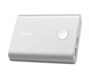 Anker PowerCore Plus 13,400 mAh, 3.0 Quick Charge Power Bank, Silver- A1316H41