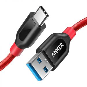Anker Powerline Plus USB-C to USB-A, 3ft, RED - A8168H91