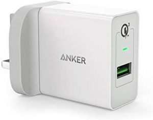 Anker PowerPort + 1 with Quick Charge 3.0 Wall Charger for Mobile Phones - A2013K21