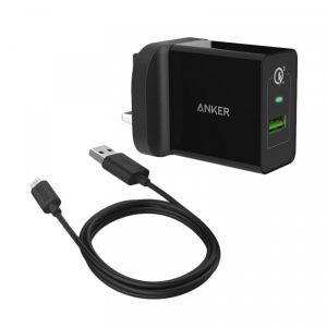 Anker PowerPort+, Charger With Micro USB Cable, Black - B2013K11
