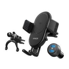 Anker PowerWave 7.5 Car Mount with 2-Port QC 3.0, Black - B2551H13