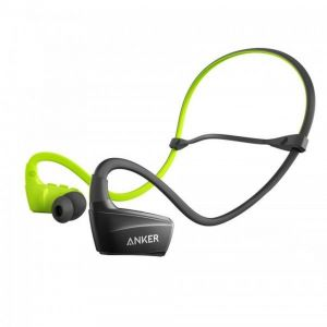Anker SoundBuds Sport NB10 In-Ear Headset Bluetooth, Built-in Microphone, Green/Black - A3260HM1