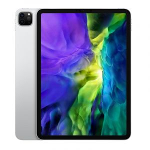 Apple iPad Pro 11 inch, Wi‑Fi, 4G, 128GB, 6GB RAM, Silver - MY2W2AB/A