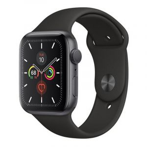 Apple Watch Series 5 , 44mm Space Grey Aluminium Case with Black Sport Band