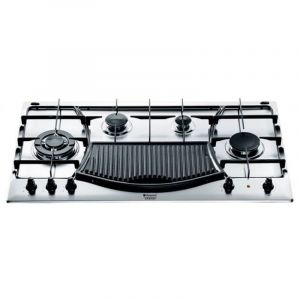 ARISTON Built-In Gas Hob - 90 cm - 3 Burners Normal - 1 Burner Trible Head - Grill - Safety system  - PH941MSTBIX