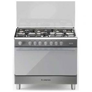 Ariston Gas Cooker , 5 burner & Grill , Silver - BAM951EGSS