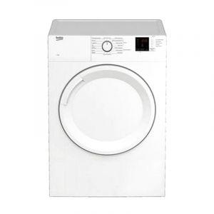 Beko Dryer 7kg, Front Load, Air Vented, Sensor Dry,15 Program,White - BDV7200