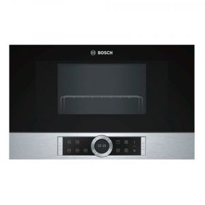 Bosch Built-in Microwave Oven ,Stainless Steel , Grill, 900 W, 21 L ,Black - BEL634GS1M