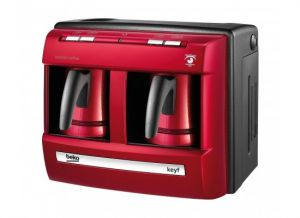 Beko Turkish Coffee Maker, 1200W , Double Pot, Red - BKK2113P