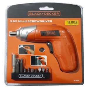 Black and Decker 3.6V NICD SCREW DRIVER + 10 BIT SETS - KC3610-B5.BLACKBOX