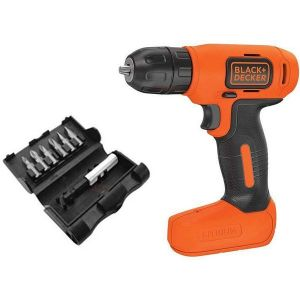 Black and Decker 7.2V LITHIUM CORDLESS DRILL + SCREWDRIVE BIT-BDCD8MEA1-B5.blackbox