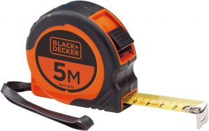 Black and Decker Bi-Material Short Retractable Tape with Belt Clip - BDHT36153.blackbox