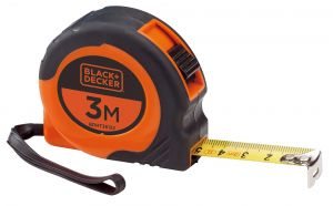 Black and Decker Bimaterial Short Tape Measure- BDHT36152.blackbox