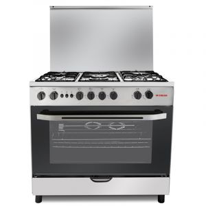 Fresh Oven Gas Size 60×90 cm, 5 Burner, full safety, Steel
