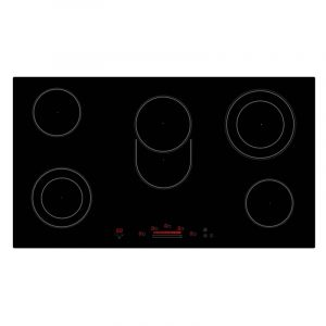 Bompany Electric Bult in Plate Ceramic 90 cm, 5 Burner,Touch control,Black - BO283TE/E