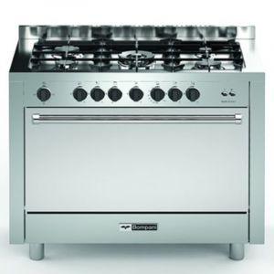 Bompany Oven Gas Size 60×100 cm, 5 gas, full safety, Italian, Steel - BO693S-L