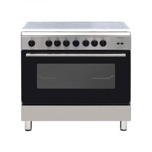 Bompany Oven Gas Size 60×90 cm, 5 Burner, full safety, Steel , Italy, - ESSENTIAL90GG5TCIX