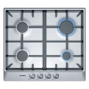 Bosch Built In Hob PCP615B90E 60CM 4Gas FSD - Stainless Steel