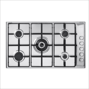 Built-in gas hob ELBA  size 90 cm, steel- E90-544 X .blackbox