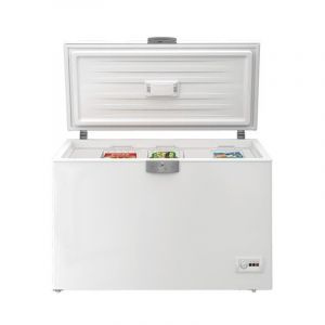 Beko CHEST FREEZER, 10.5Feet, Light it LED, White - C300-HC - Blackbox