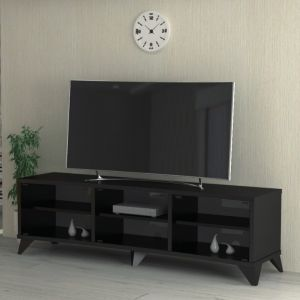 TV Table Curved Without Stand , Black - CURVED75-160