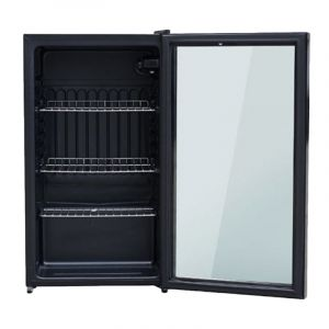 Dansat Display Refrigerator Single Door,2.6 Cu.ft, Black - D160SC20